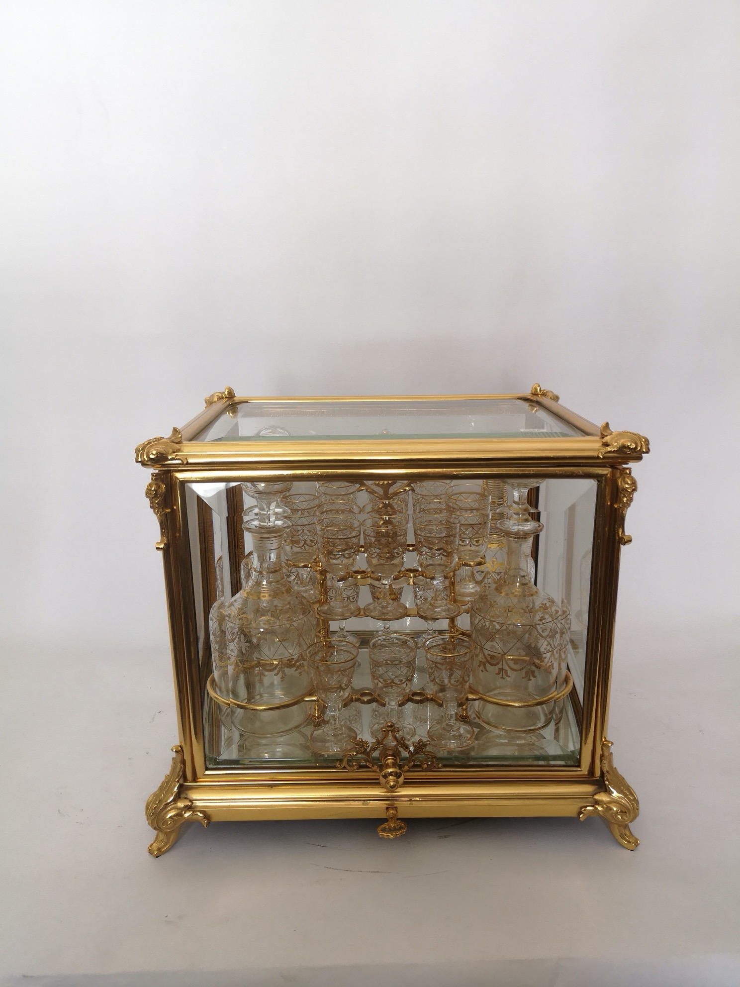 19th Century French Gilt Bronze Cave A Liqueur by Tahan